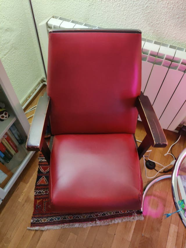 sillón sala cine retro