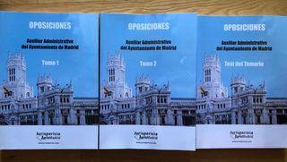 Temario Oposiciones Auxiliar Ayuntamiento de Madri