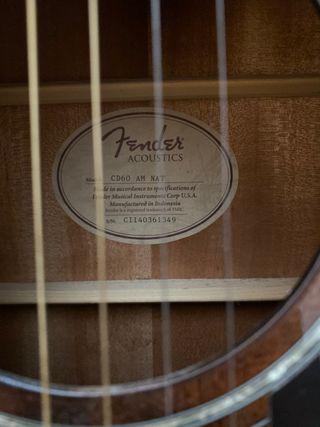 Fender guitar CD60 AM NAT Guitar