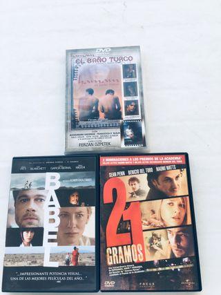 DVDs. El baño turco. 21 gramos. Babel