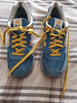 New balance 574 Azul/amarillas Zapatillas 44