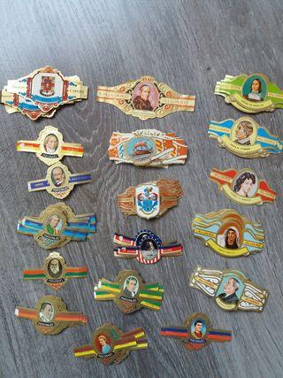 vitolas antiguas de barcos, personajes y más