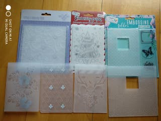 lote 7 carpetas embossing emboss and cut scrap