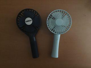 Dos ventiladores portátiles usb