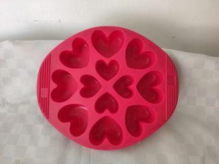 Molde de silicona para hornear. corazones.