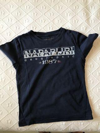 Camisetas Napapijri niño azul marinas talla 5