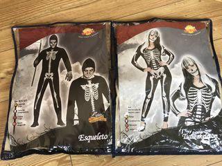 Disfraz pareja esqueletos