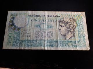 Billete de 500 liras Italia 1974 - 1979