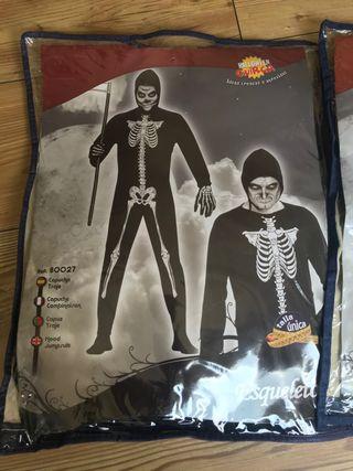 Disfraz esqueleto hombre