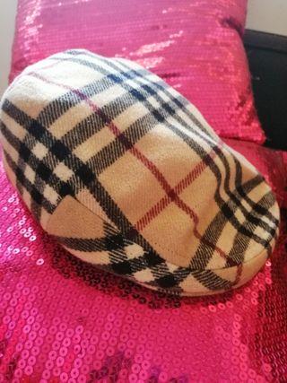 gorra de lana con visera Burberry
