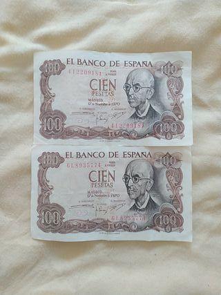 Billetes de 100 Pesetas