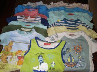 Lote Camisetas 6-12m 15unidades