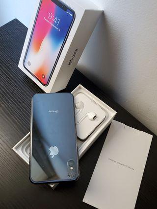 iphone X de 64gb, 100% salud de la bateria