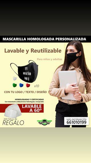 MASCARILLAS PERSONALIZABLES HOMOLOGADAS