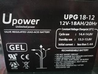 Batería de gel placa solar moto