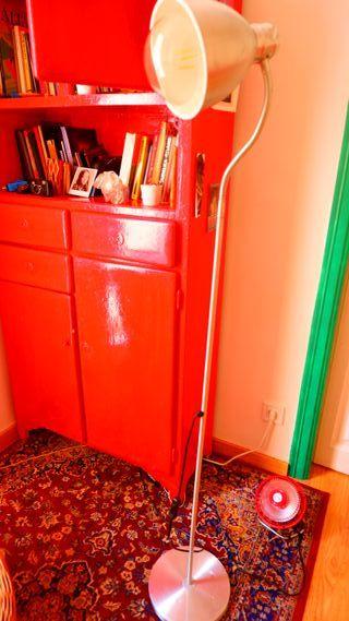 armario lacena rojo restaurado vintage