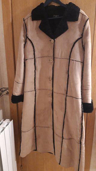 abrigo pelliza larga tipo ante sin estrenar