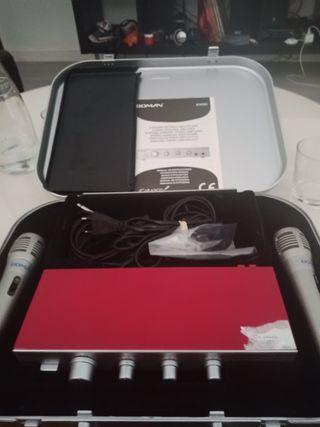 maletín Karaoke portátil sin usar