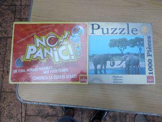 set de puzzle con juego de mesa