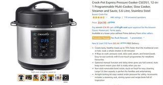 Crock-pot express pressure cooker - slow cooker