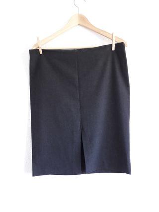 Falda formal gris oscuro Zara Basic t 42 clásica