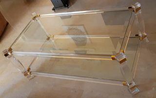 mesas de cristal y metacrilato