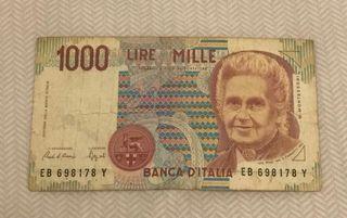 billete de 1000 lire mille