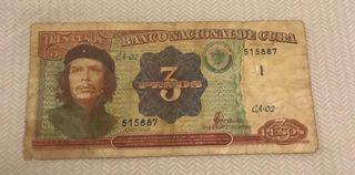 billete de cuba de 3 pesos