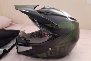 Casco agv ax-8 carbono puro xl