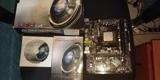 Placa base FM2A55M-HD+ con procesador APU A4 6300
