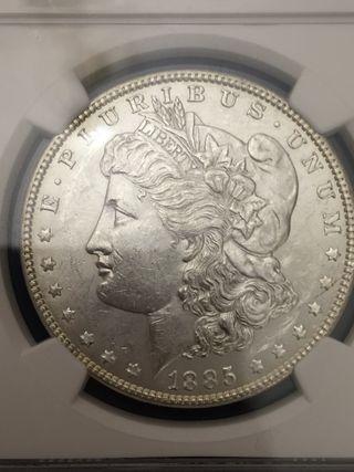 1 dólar Morgan ngc 60 espectacular 1885