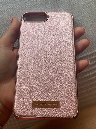 Funda iphone color Rosa efecto piel a extremar