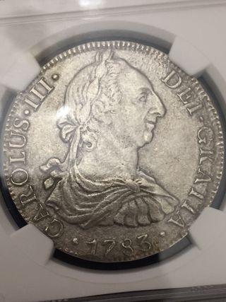 8 reales Carlos III 1783 certificada NGC
