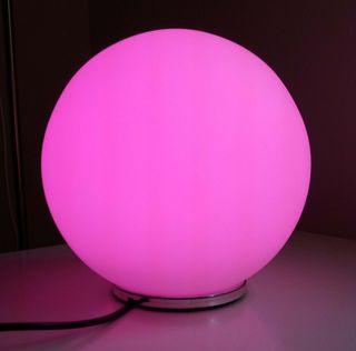 Lampara esfera Led con mando