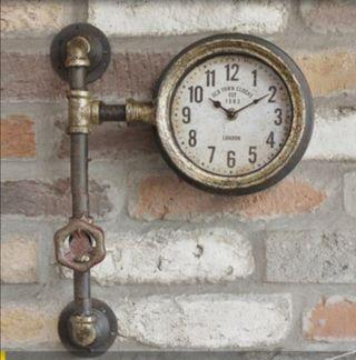 Reloj tubería de pared