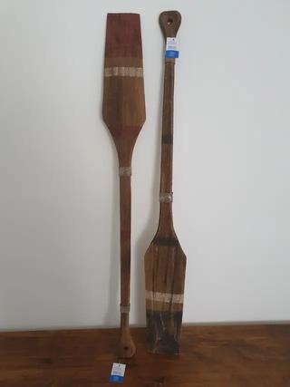 NUEVOS - Dos Remos madera envejecido decorativos