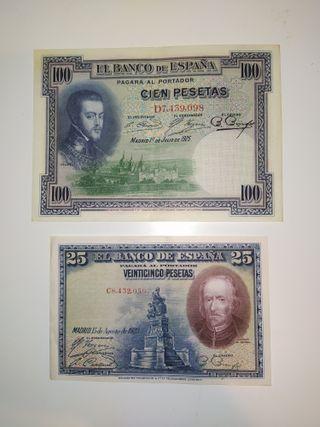 Billetes españoles muy antigüos