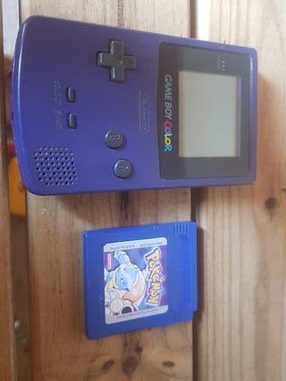 Game boy color + pokemon azul