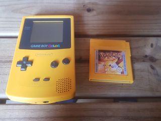 Game boy color + pokemon amarillo