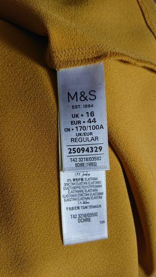 Marks and Spencer ochre dress