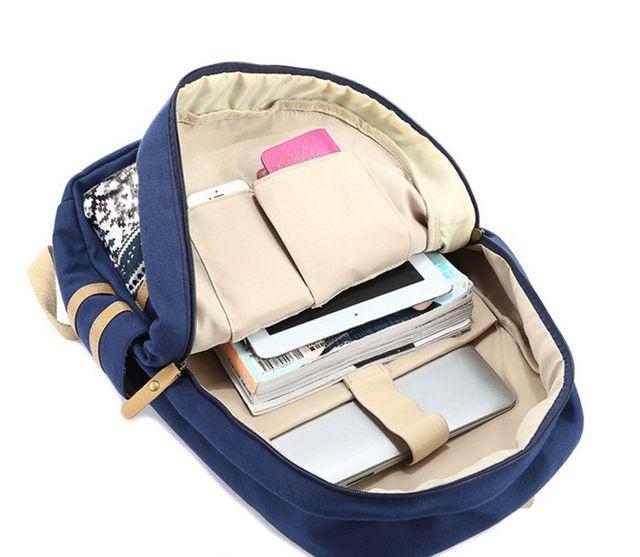 mochila escolar 3piezas
