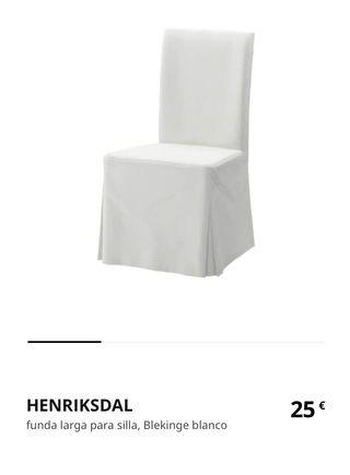 Fundas largas sillas Ikea Henriksdal