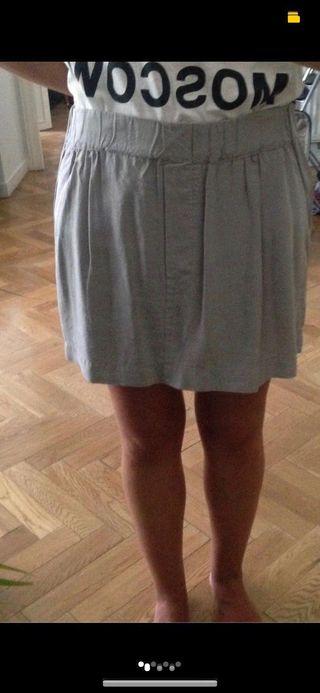 Falda gris Zara