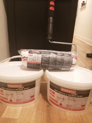 Anti mould & mildew paint + Extendable roller