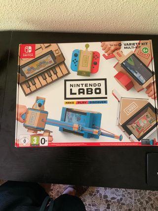 Nintendo labo Armado +regalo estuche smash bros