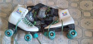 patines de bota talla 39.