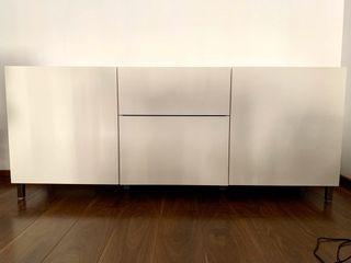 Mueble salón BESTA blanco en perfectas condiciones