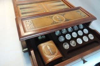 JUEGO BACKGAMMON DE FRANKLIN MINT