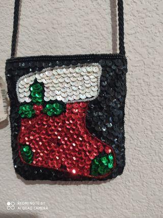 bolso niña navideño