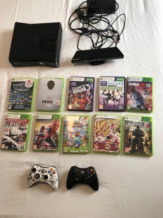 Xbox 360 + juegos y dos mandos